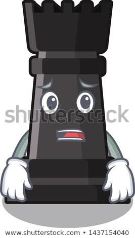 Scared Cartoon Chess Rook Stock photo © cthoman