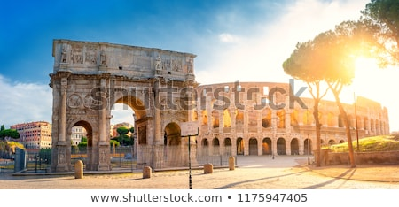 утра римской форуме руин Италия город Сток-фото © Givaga