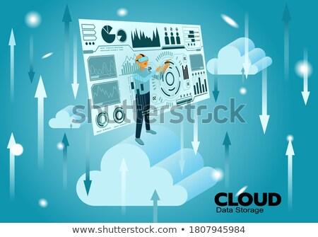 hava · durumu · uygulaması · ikon · stil · dizayn · tahmin - stok fotoğraf © kyryloff