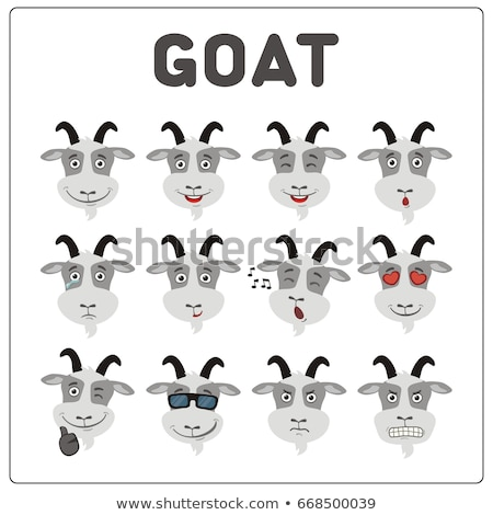 cartoon sad goat stock photo © cthoman