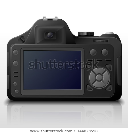 Dslr camera lcd display technologie zwarte Stockfoto © FOKA