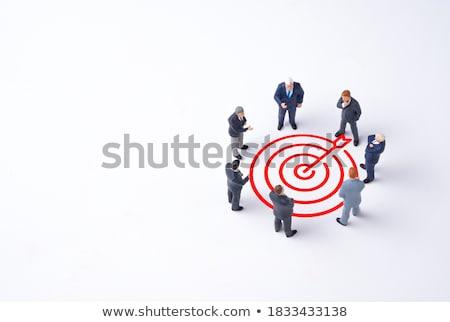 Előnyök nyíl kéz rajz fekete jelző Stock fotó © ivelin