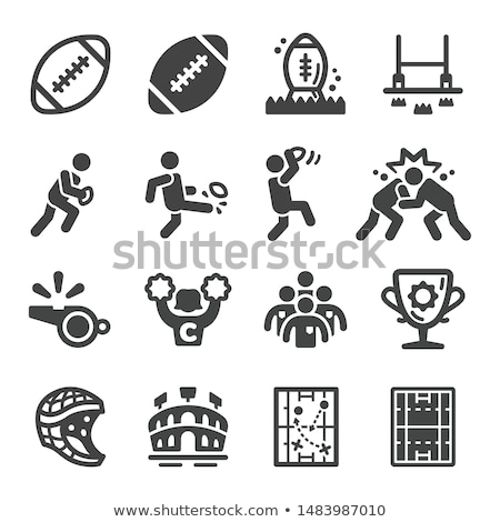 American Rugby Player Icon Stock photo © patrimonio