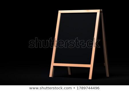 コーチング · 文字 · 黒 · 黒板 · 3D · レンダリング - ストックフォト © tashatuvango