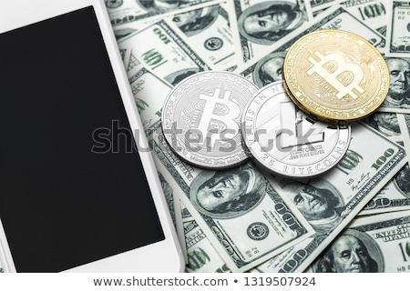 Wymiany płynnych monet logo rynku godło Zdjęcia stock © tashatuvango