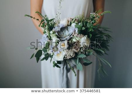 Gyönyörű menyasszonyi virágcsokor zöld fű prémium virág Stock fotó © ruslanshramko