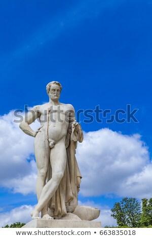 Escultura jardim Paris França homem pedra Foto stock © boggy