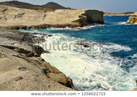 ビーチ 島 風の強い 日 表示 ギリシャ ストックフォト © taviphoto