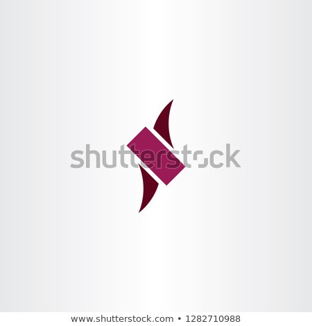 n logo letter dark magenta icon logotype vector stock photo © blaskorizov