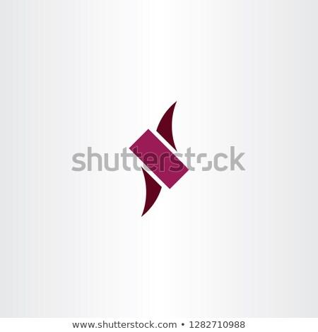 Logo lettre sombre magenta icône Photo stock © blaskorizov