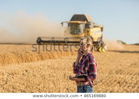 Landbouwer vrouw business schrijven werken Stockfoto © Kzenon