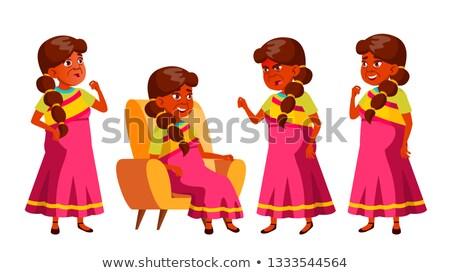 engraçado · desenho · animado · avó · feliz · feminino · pessoa - foto stock © pikepicture