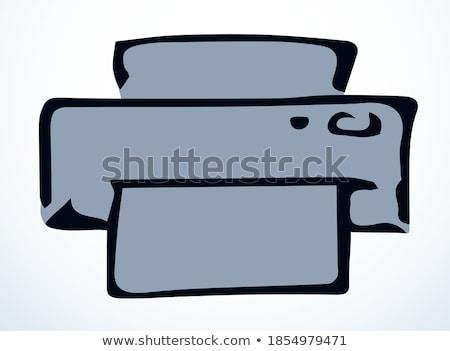 Fax machine hand drawn outline doodle icon. Stock photo © RAStudio