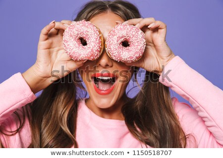 Close-up of fat woman teasing Stock photo © Kzenon