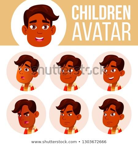 Indian ragazzo avatar set kid vettore Foto d'archivio © pikepicture