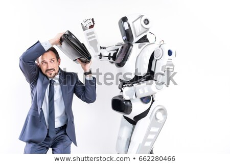 man fights with a robot Stock photo © studiostoks