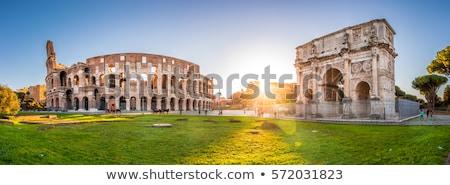 Panorama Roma edificio ciudad arte Foto stock © Givaga