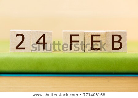 Stockfoto: Cubes Calendar 24th February