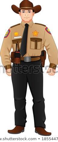 Sheriff in brown uniform Stock photo © colematt