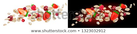 Uçan yulaf karpuzu yalıtılmış beyaz Stok fotoğraf © xamtiw