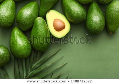 Сток-фото: авокадо · зеленый · Ломтики · ресторан · еды · реклама