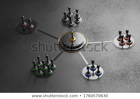 Leadership And Team Cohesiveness Over Black Background Stock photo © olivier_le_moal