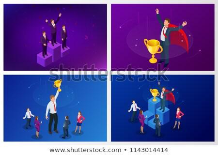 Empresario negocios excelencia premio hombre ganar Foto stock © robuart