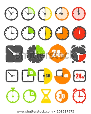 Set of different clock icons, vector illustration. Stock photo © kup1984