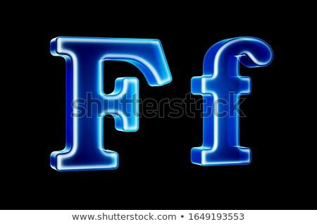 Transparent x-ray letter F. 3D Stock photo © djmilic
