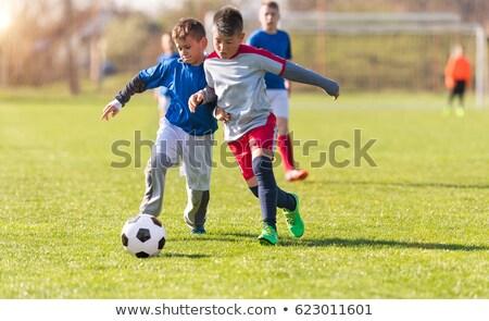 Dzieci grać piłka nożna turniej gry młodych Zdjęcia stock © matimix