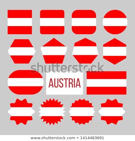 Austria Flag Collection Figure Icons Set Vector Stock photo © pikepicture