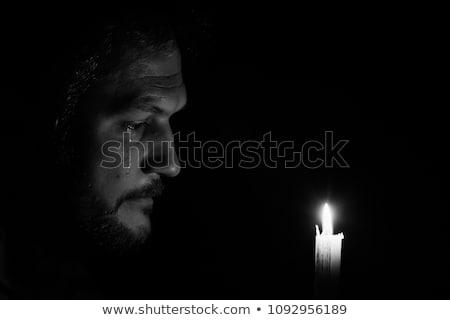 Stock photo: Portrait of man crying