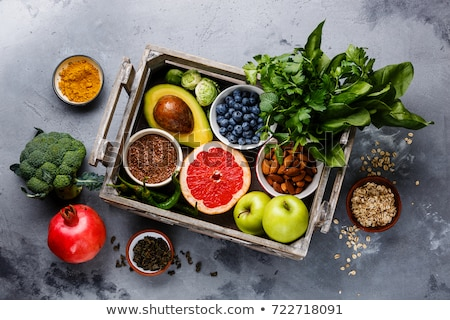 organic food bio ingredients apples and leaves stock photo © robuart