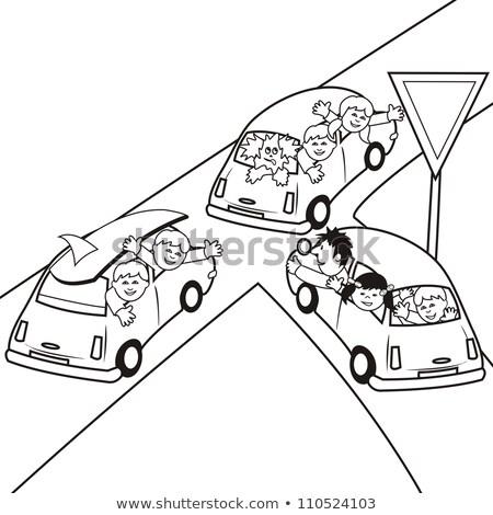 kinderen · honden · kleurboek · cartoon · illustratie · activiteit - stockfoto © izakowski