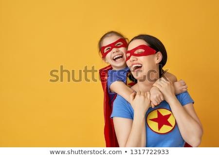 súper · masculina · femenino · ilustración · Cartoon - foto stock © marish