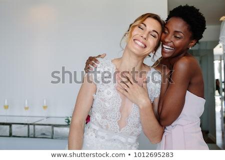 Menyasszony illusztráció virágok házasság női virágcsokor Stock fotó © adrenalina