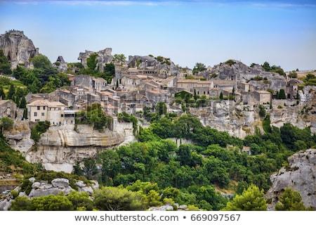 A view on village Les Baux-de-Provence, France Stock photo © boggy