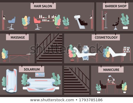 Empty Solarium Cartoon Icon Beauty Salon Equipment Stock photo © robuart