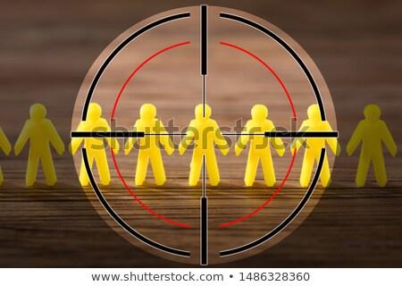 Amarelo humanismo tiroteio alvo alcance Foto stock © AndreyPopov