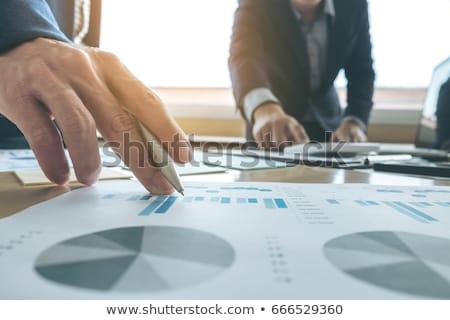 Iş ekibi toplantı sunmak sekreter tanıtım yeni Stok fotoğraf © Freedomz
