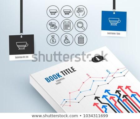 Férfi táblázatok naptár vektor tart nagyító Stock fotó © robuart