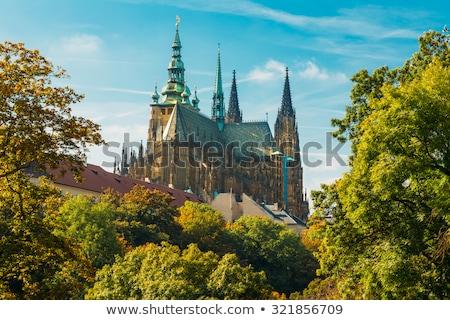 Çek · Cumhuriyeti · Prag · görmek · katedral · Bina · bahçe - stok fotoğraf © borisb17