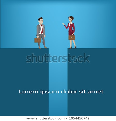 Concept of inequal pay and gender gap between man woman Stock photo © Elnur