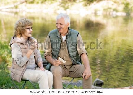 два счастливым зрелый Туристов Бутерброды Сток-фото © pressmaster