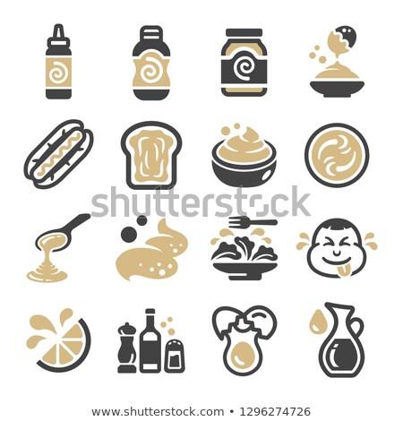 condimento · illustrazione · carattere · ciotola · insalata · alimentare - foto d'archivio © bspsupanut