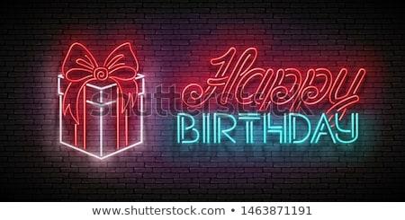 Vintage brillo tarjeta de felicitación regalo feliz cumpleaños Foto stock © lissantee