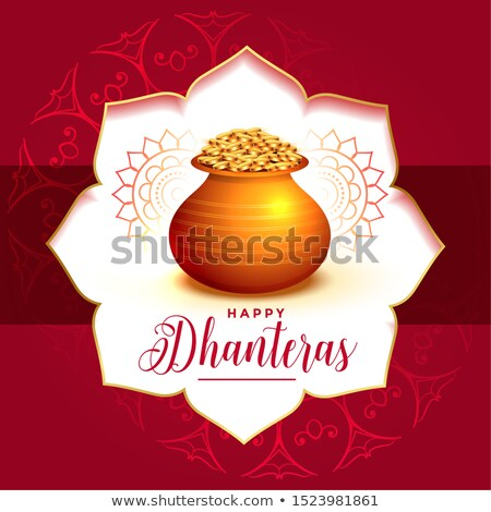 decorative festival card design for dhanteras day Stock photo © SArts