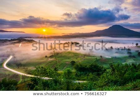 Güneydoğu asya manzara üst görmek yeşil Stok fotoğraf © vapi