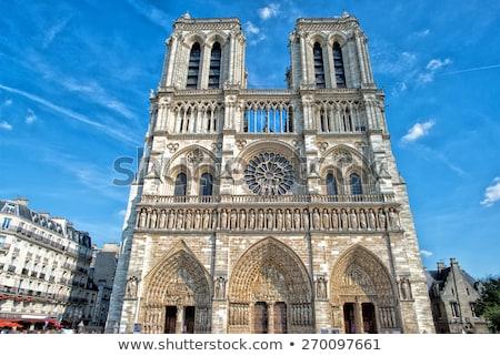 Готский · архитектура · детали · собора · Париж · Франция - Сток-фото © vapi