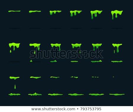 Zöld nyálka cseppek izolált sav vektor Stock fotó © Andrei_